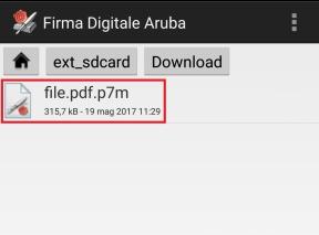 Selezionare il file
